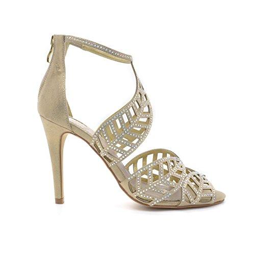 Poze Gold - Sandalias de vestir para mujer Dorado - dorado
