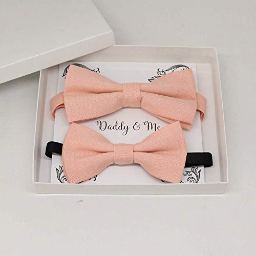 Blush Bow tie set for daddy and son,