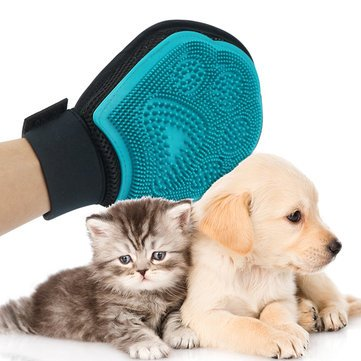 Ducky Dressing - Pet Grooming Glove Massage Mitt Hair Remover Fur Collecting Shedding Tool Dog Cat - Dearie Positron Emission Tomography Darling Preferred Loved Preparation - 1PCs