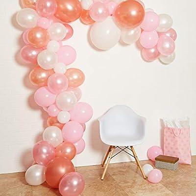 Amazon.com: Guirnalda de globos para fiesta de color rosa ...