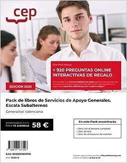 PACK LIBRO OPOSICION SUBALTERNO GENERALITAT VALENCIANA: Amazon.es: SIN DETALLAR: Libros