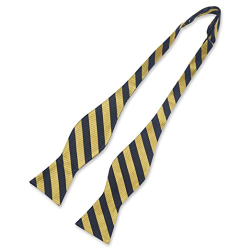 Ancap Bow Tie - Self-Tie, Reversible, Black and Gold Striped Bow Tie ()