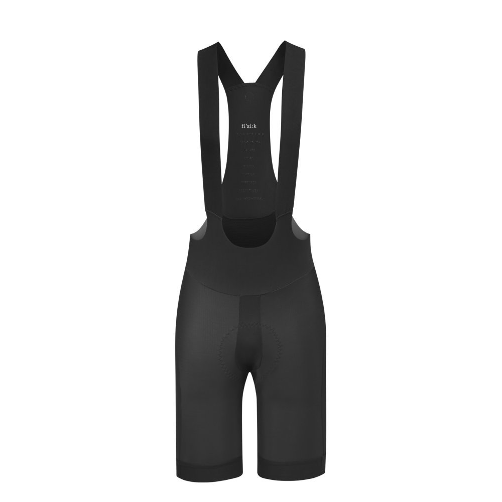 Fizik LINKBLR3-10-L Bull Height (6'06'3) Waist (3436.5) Bib Shorts, Black, Large