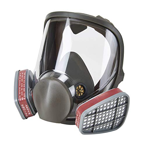 Holulo Full Face Facepiece Respirator Paint Spray Mask with 2 x Organic Vapor Cartridges by Holulo (Image #9)