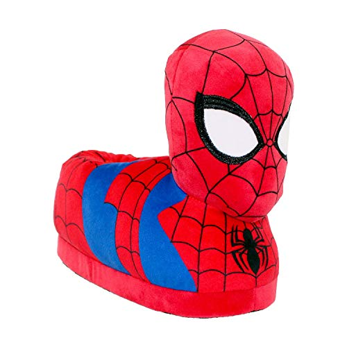 Price comparison product image 7706-9 - Marvel Ultimate Spider-Man - Spider-Man Slippers - X-Small - Happy Feet Mens and Womens Slippers