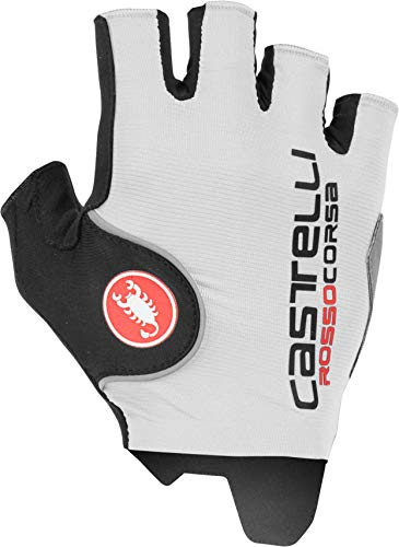 Castelli Rosso Corsa Pro Cycling Gloves (White, X-Large)