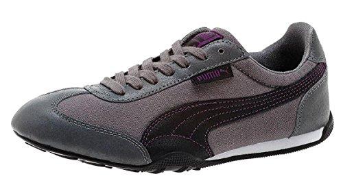 PUMA Women's 76 Runner Canvas Classic Sneaker, Steel Grey/Geranium, 7.5 B US