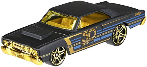 Hot Wheels 50th Anniversary Black & Gold Series Special Edition Collectible Die Cast Cars ('68 Dodge Dart 4/6)
