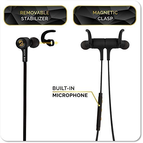 Back-Bay-American-EQ-35-Wireless-Sweatproof-Bluetooth-Earbuds-True-Hi-Fi-Stereo-Sound-Headphones-with-8-Hour-Battery-Microphone-Magnet-in-Ear-Earphones-and-Carrying-Bag-Fast-Pairing