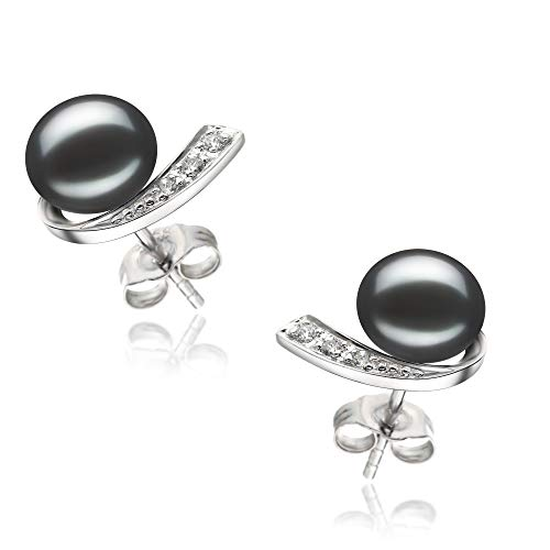 Claudia 7-8mm AA Quality Freshwater 925 Sterling Silver Cultured Pearl Earring Pair For Women