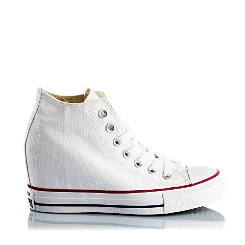 Bianco Chuck Converse Mid Taylor Donna Ct Lux Canvas Scarpe Da Fitness vI7d7rxq