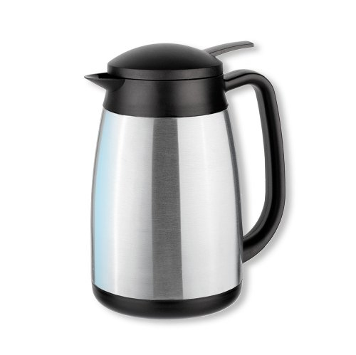 Isosteel Tableline VA-9338K Vacuum-Insulated Thermos Can with Quickstop Single-Hand Pouring-System 1.0 L 18/8... by Isosteel