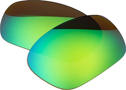 Zero Replacement Lenses For Oakley Racing Jacket Polarized Sunglasses Green Mirror Polarized