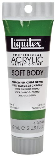 Liquitex 4124166 Professional Soft Body Acrylic Paint 2-oz Tube, Chromium Oxide Green