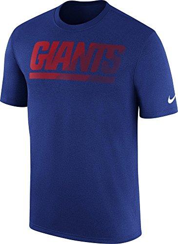Nike Men's Dri-Fit New York Giants Sideline Legend Performance T-Shirt Game Royal/Red 875169-495 (Large)