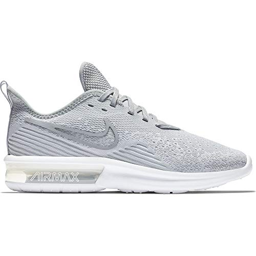 Nike Women's Air Max Sequent 4 Running Shoe White/Wolf Grey Size 8.5 M US