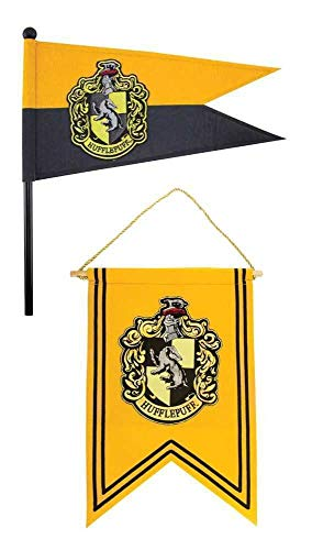 Harry Potter Official Banner & Flag Pennant Set - 12 x 17 inches -