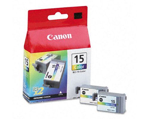 Bci 15 Tri Color - CANON BCI15 BCI15 (BCI-15) Ink, 130 Page-Yield, 2/Pack, Tri-Color