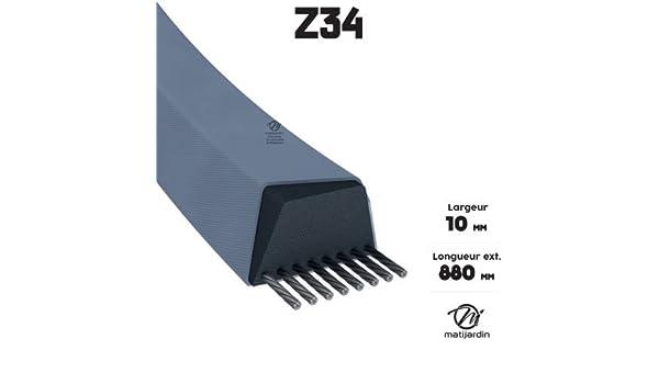 Correa cortadora Z34 trapezoidal - 10 mm x 885 mm - pieza Neuve ...