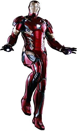"Hot Toys ""Iron Man Mk XLVI Power Pose -Figur, HT902622, im Maßstab 1 6"