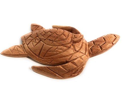 TikiMaster Carved Sea Turtle w/baby honu 7'' - Hand Carved | #non0715 by TikiMaster