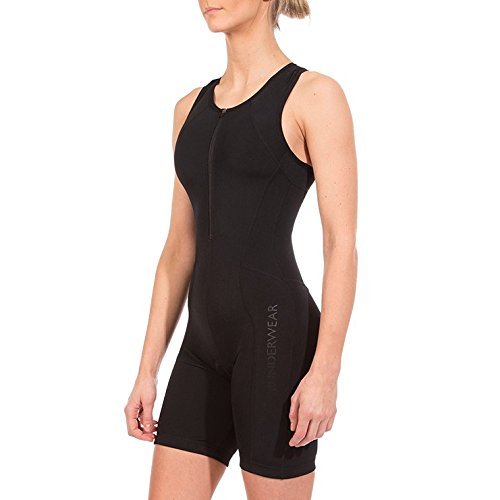 Runderwear Women's Triathlon Suit | Premium, Padded Performance Tri Suit (Black, Large (US 8-10))