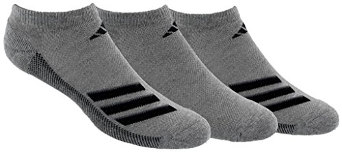 Mens Climacool 3 Stripes (adidas Socks Men's Climacool Superlite Stripe 3 Pack No Show Socks, Core Heather/Black/Onix, Size 6-12)