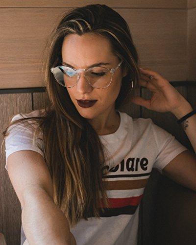 Gafas Sunglasses TRANSPARENT CANDY gruesa NEGRA transparentes montura MOSCA Negra modelo Mosca ApwqUSEx