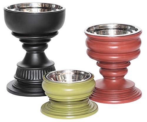 Unleashed Life Elevated Feeder - Raised Dog & Cat Food Bowl