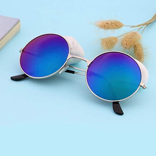 Coloré Soleil Rondes Durable Miroir Aluminium Vintage Protection Qualité Lunettes Cadre UV400 UV400 Lunettes Blue Hommes Lentille En Femmes de qBRw8TnI
