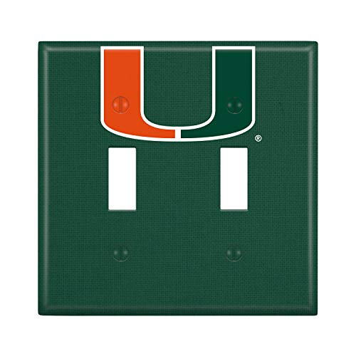 - Keyscaper NCAA Miami Hurricanes Unisex Lightswitch PlateLightswitch Plate, White, One Size
