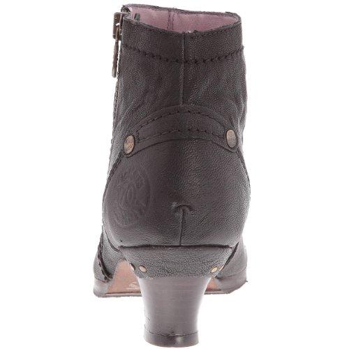 Kickers Katlow - Zapatos de cordones de Piel Lisa para mujer Negro - negro