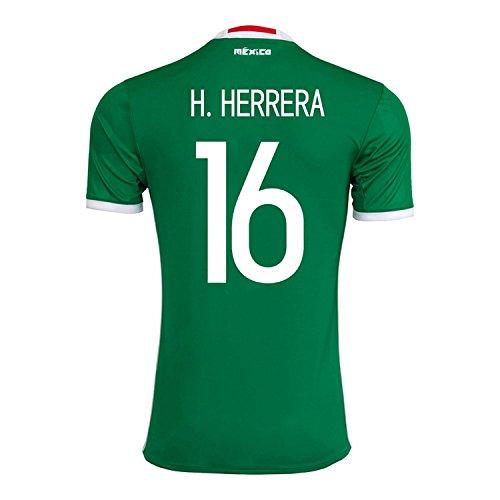 すぐに控えめな下にadidas H. Herrera #16 Mexico Home Jersey Copa America Centenario 2016 - YOUTH/サッカーユニフォーム メキシコ ホーム用 ジュニア向け