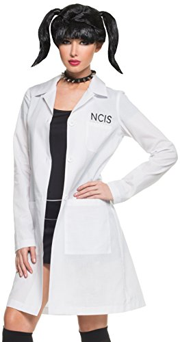 Mystery House Women's NCIS Abby's Lab Coat and Choker Costume Kit, White/Black, Small for $<!--$44.99-->