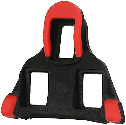 SurfMall Par calas Pedales para Bicicletas, Kéo Calas para Shimano SPD-11 SPD-SL-Spinning, Pedal Cleat Set Rojo Amarillo (Rojo): Amazon.es: Deportes y aire libre