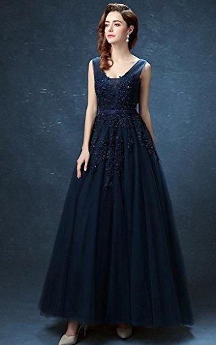 Vimans -  Vestito  - linea ad a - Donna grigio scuro 46