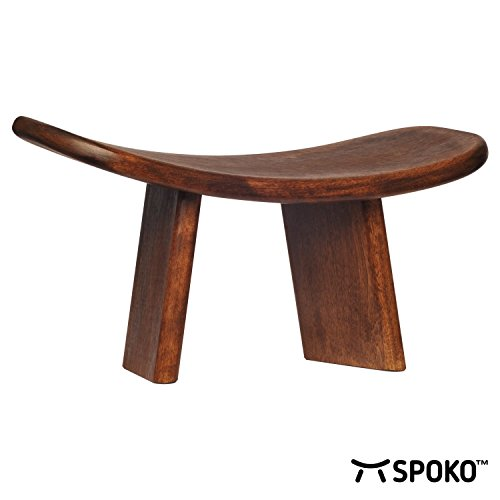 SPOKO Meditation Bench, The Original Kneeling Stool, Posture Certified, Best Chair, Low Seat for Meditations, Yoga, Prayer, Seiza and Kids, No Cushion, Mat, or Pillow Needed , Peace and Happiness by SPOKO