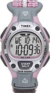 Timex Women's T5H471 Ironman Traditional 30-Lap Pink Fast Wrap Velcro Strap Watch