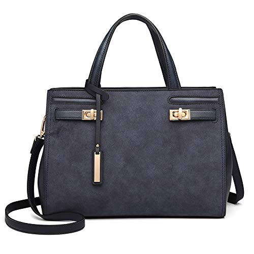 Matt Ladies Handbag Women Blue Shoulder Style Tote Leather Bag SwzzXUqdx