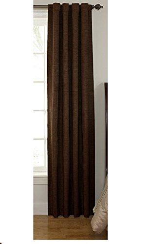 Chocolate Window Panels (Sound Asleep Room-Darkening Noise-Reducing Backtab Window Panel, Chocolate,)