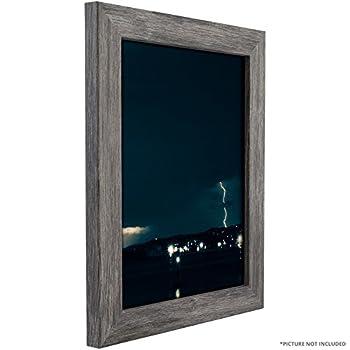 "Craig Frames Bauhaus 125, 18x22-Inch Modern Gray Barnwood Picture Frame, Premium .090"" Thick Acrylic Glazing and Acid Free Foamcore Backing"