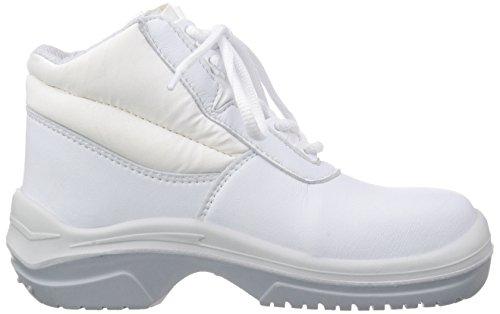 MTS Sicherheitsschuhe M-White Creon S2 15207 - Zapatos De Seguridad de Piel Unisex Adulto, Color Blanco, Talla 41