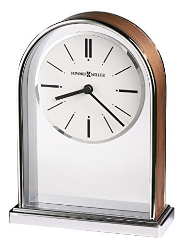 Chrome Plated Desk Clock - Howard Miller 645768 645-768 Milan Table Clock