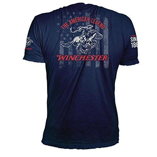 Winchester The American Legend Stars and Stripes US Flag Vintage Graphic T-Shirt for Men