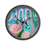 Cheap CafePress – Flamingo Party Wall Clock – Unique Decorative 10″ Wall Clock