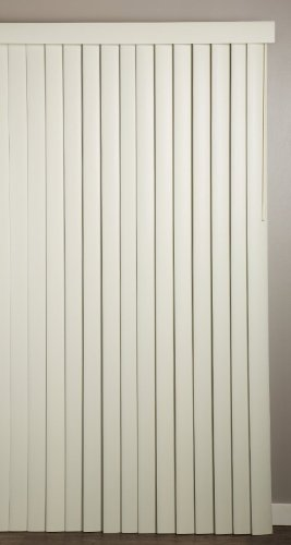 "Achim Home Furnishings Vertical Blinds, 78"" wide 84"" long., Ribbed Alabaster"