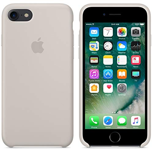 BigMike Compatible for iPhone 7 Case, iPhone 8 Case, Soft Liquid Silicone Shock-Absorption Case with Soft Microfiber Cloth Lining Cushion for iPhone 7/8-4.7inch (Stone)