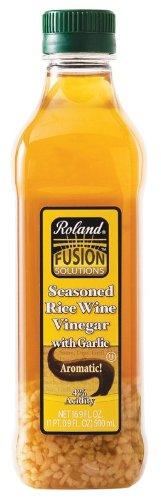 Roland: Seasoned Rice Wine Vinegar with Garlic 16.9 Oz (6 Pack)