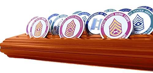 DECOMIL- 4 Rows Medium Coin& Poker Chips Display Holder USED - Very Good