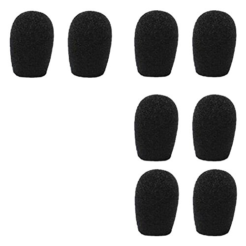 - 20mm Headset & Lapel Lavalier Microphone Windscreens - 8 Pack